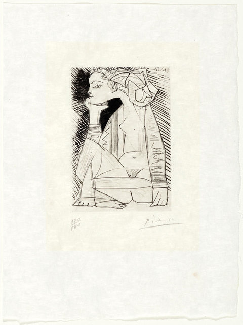 Pablo Picasso, 'Femme assise en tailleur: Geneviève Laporte', 1951, Print, Etching and drypoint, Koller Auctions
