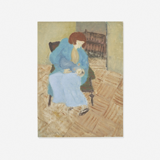 Milton Avery, 'Young Mother', 1934, Painting, Oil on artist board, Rago/Wright