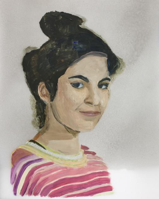 , 'Girl in Striped Sweater,' 2017, Galleri Magnus Karlsson