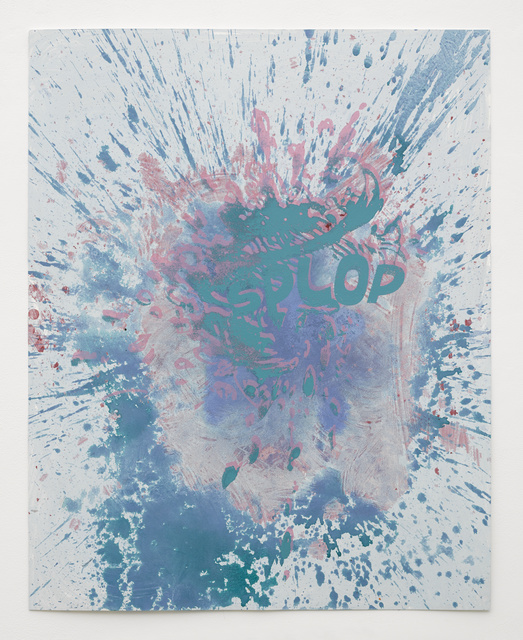 , 'Pink and Blue Splop,' 2014, White Cube