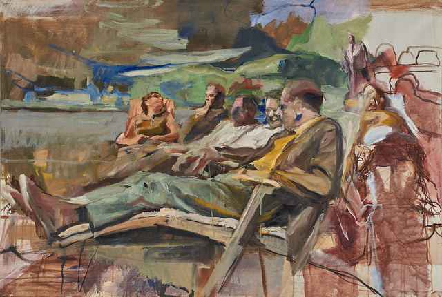 Richard Estes, 'People on Park Bench', Rago