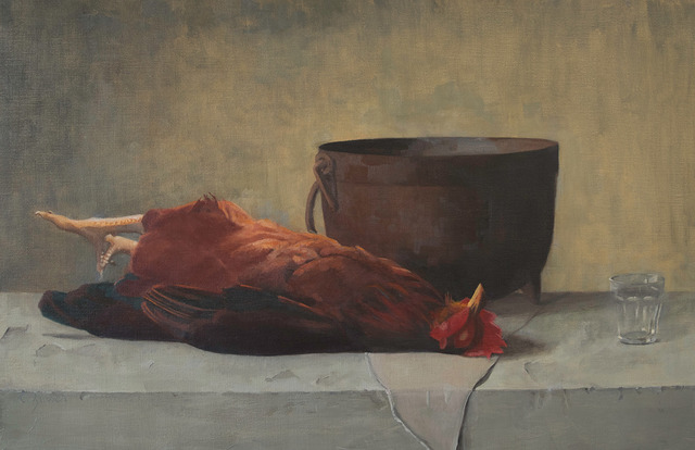 Cynthia Zinser, 'Homage to Emil Carlsen, Rooster', 2019, The Galleries at Salmagundi