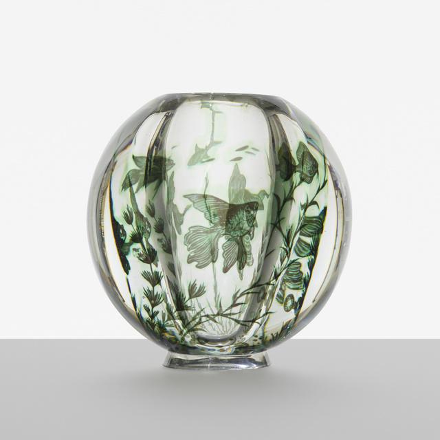 Edward Hald, 'Graal Fish vase', c. 1936, Wright