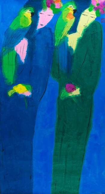 , 'Two Ladies, Two Parrots,' 1980-1985, Catto Gallery