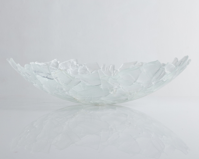 """, 'Unique """"Shard"""" sculptural bowl in slumped and fused glass. ,' 2018, R & Company"""
