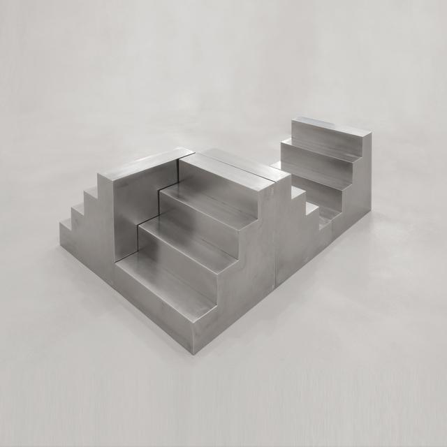 Nicola Carrino, 'Ri/Costruttivo 1/69 E.2016. Delta Uno. 4 scale modules n. 13.57/16.57', 1969-2016, Sculpture, Stainless steel grind, A arte Invernizzi