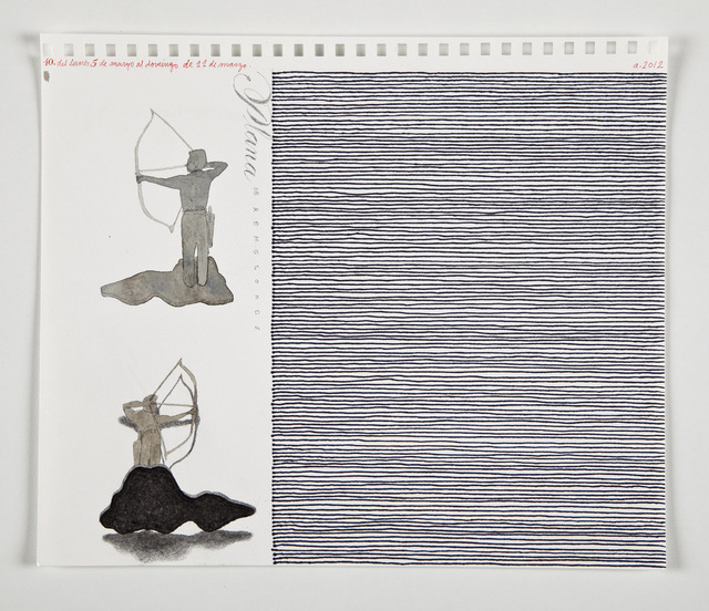 , 'Anuario (mes de mayo, 5 dibujos) [Yearboook, (Month of May, 5 Drawings)],' 2012, Casas Riegner