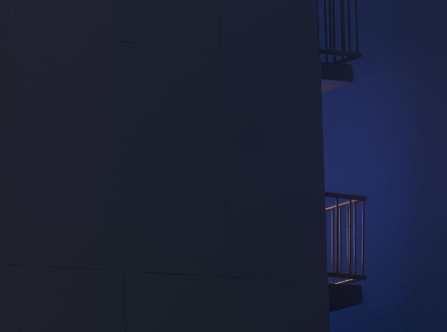 , 'Balcony (night),' 2019, Akinci