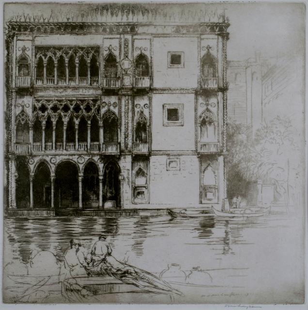 Donald Shaw MacLaughlan, 'Ca D'Oro, Venice', 1922, Private Collection, NY