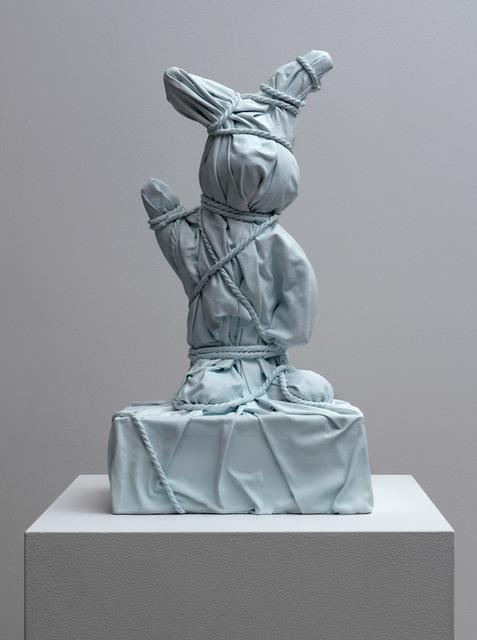 , 'Wrapped Bunny #2 Blue,' 2018, Galerie Ron Mandos