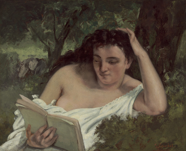 Gustave Courbet, 'A Young Woman Reading', ca. 1866/1868, National Gallery of Art, Washington, D.C.