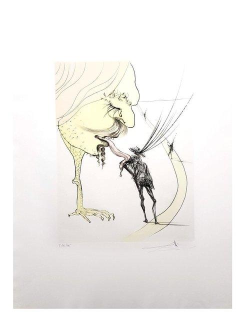 """Salvador Dalí, 'Original Etching """"Picasso: A Ticket for Glory"""" by Salvador Dalí', 1974, Galerie Philia"""