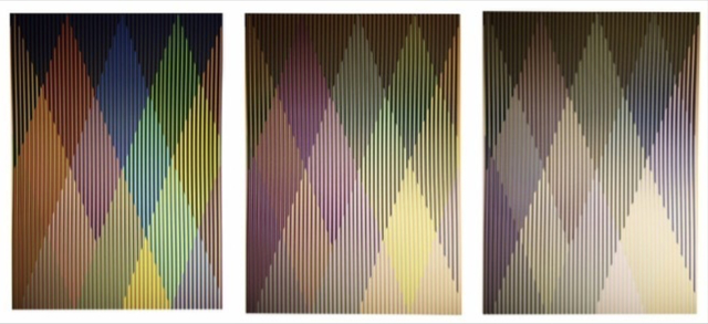 Carlos Cruz-Diez, 'Couleur Additive Perseus, Portfolio of 3', 2017, Print, Screenprint, Gregg Shienbaum Fine Art