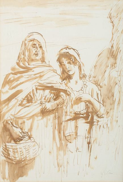 Augustus John, 'Two women', Print, Ink, Chiswick Auctions