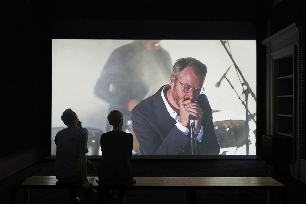 Installation view of Ragnar Kjartansson, 'A Lot of Sorrow', 2013. Single-channel video, 6 hours and 9.35 minutes.