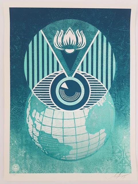 Shepard Fairey, 'Flint Eye Alert Globe', 2009, Cerbera Gallery