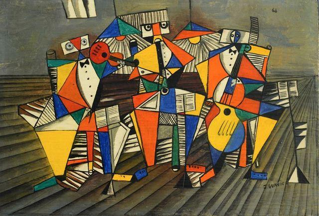 , 'Tres músicos,' 1968, Galeria Sur