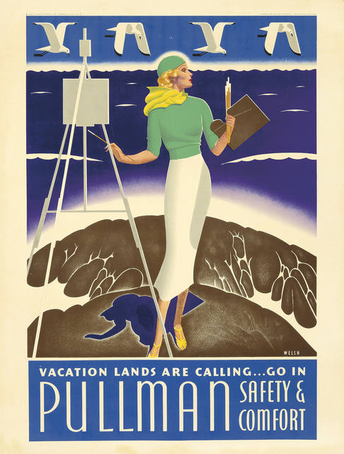 , 'Pullman / Vacation Lands Are Calling,' 1936, Rennert's Gallery