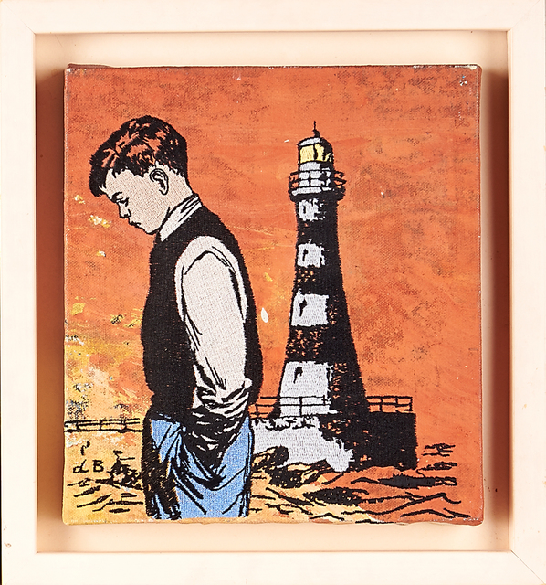 David Bromley, 'Two Artworks: Boy with Lighthouse', ca. 1990, Rago