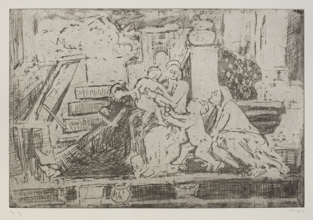 , 'The Holy Family on the Steps,' 1998, Piano Nobile