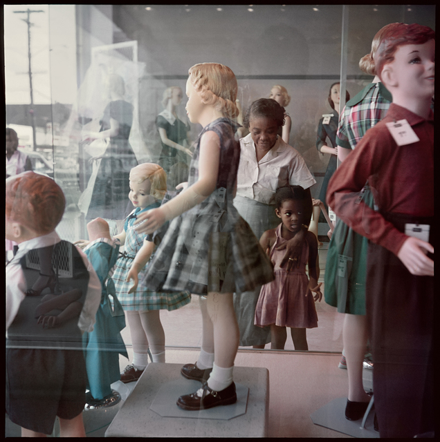 , 'Ondria Tanner and Her Grandmother Window-shopping, Mobile, Alabama,' 1956, Jack Shainman Gallery