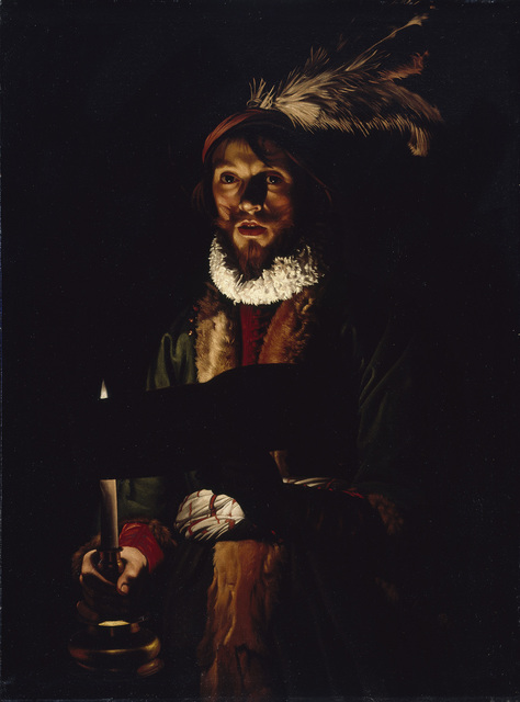 , 'A Man Singing by Candlelight,' 1625-1635, The National Gallery, London