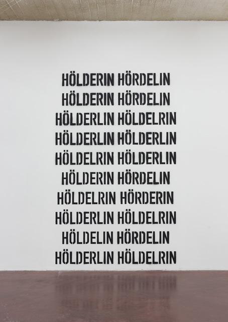 , 'Hölderlin Hölderlin,' 2017, Dvir Gallery