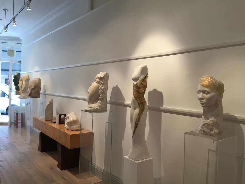 Another view showing Classical, Slender & Owl by David Klein MRBS at Thackeray Gallery, London