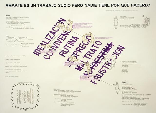 , 'Amarte es un trabajo sucio pero nadie tiene por qué hacerlo,' 2013, Galería Weber-Lutgen