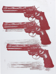 Russell Young, 'Elvis TCB Gun,' 2011, Phillips: 20th Century and Contemporary Art Day Sale (February 2017)
