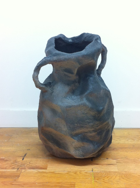 , 'Crumpled Grey vessel with shadows,' 2015, Johannes Vogt Gallery