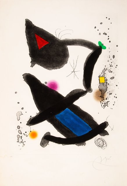 Joan Miró, 'Le Roi David', 1972, Print, Etching and aquatint in colors on wove paper, Heritage Auctions