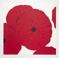 Donald Sultan, Red Poppies, March 21, 2012
