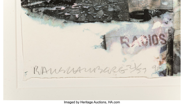 Robert Rauschenberg, 'L.A. Uncovered #8', 1998, Print, Screenprint in colors along lower edge, Heritage Auctions