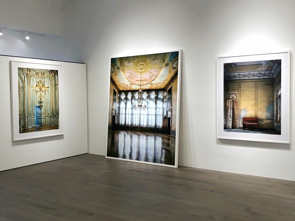 Michael Eastman: Secret Doorway, Buenos Aires; Chandelier, Venice; Red Piano, Havana