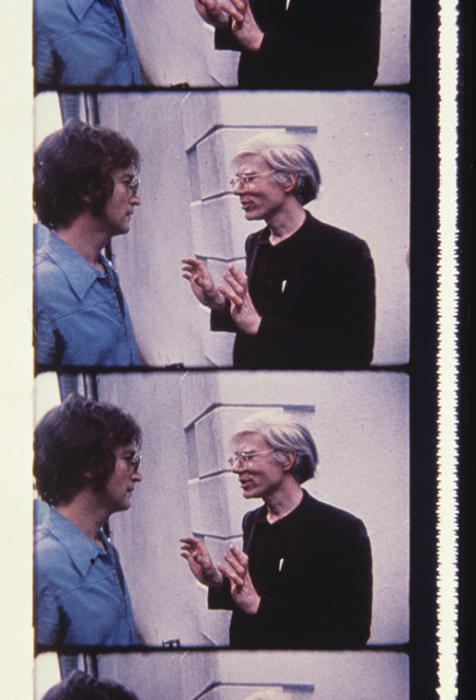 Jonas Mekas, 'John Lennon and Andy Warhol at Klein Party', 2013, Photography, Archival Photographic Print, Deborah Colton Gallery
