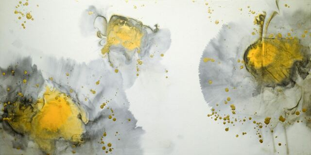 Darius MA, 'Wu Wei 21-03', 2021, Painting, Chinese ink, gold leaf, pigments and acrylic on rice paper mounted on wood panel, Galerie Koo