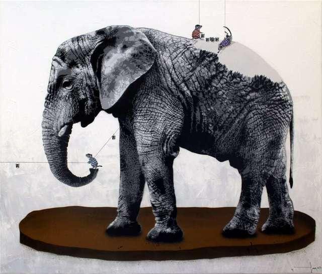 , 'Rats dressing Elephant,' 2018, NextStreet Gallery