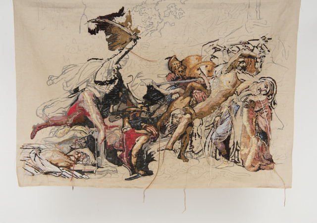 ", 'Banner 4, from ""La révolte du Caire"", Anne Girodet de Roucy Trioson,' 2009, The Gallery Apart"