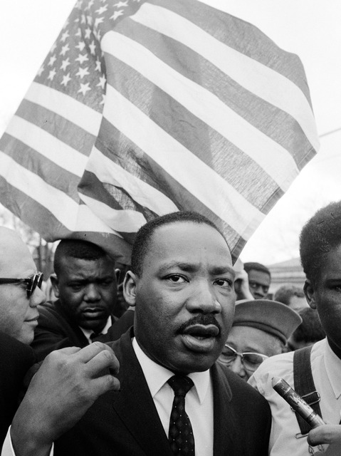 , 'Martin Luther King Jr. leading March, Selma, AL,' 1965, Atlas Gallery