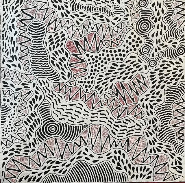 , 'Ursula Napangardi Hudson - Vaughan Springs Jukurrpa #1065 - 17ny ,' -8, Flinders Lane Gallery