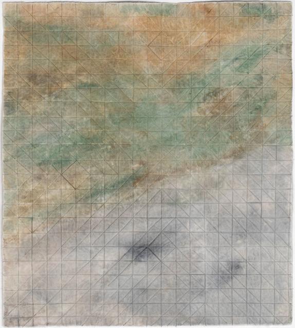 Raul Walch, 'NonWoven Semaphore: Brenner', 2021, Mixed Media, Non-woven fabric, earth pigments, acrylic, thread, Aki Gallery