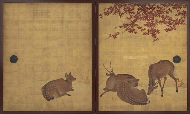, 'Deer and Maples, Cranes and Pine Sapling. Japan, Edo period (1615–1868),' 18th-19th century, The Metropolitan Museum of Art