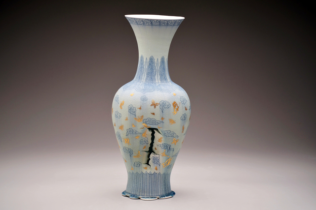 , 'Vase with Clouds and Butterflies,' 2016, Duane Reed Gallery