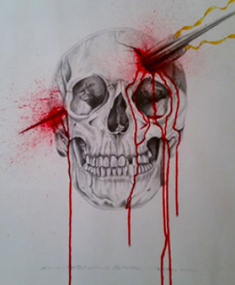 Patrick Faure, 'Only the Dead', Painting, Watercolor and Pencil on paper, Saphira & Ventura Gallery