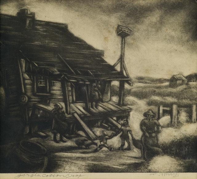 Dox Thrash, 'Georgia Cotton Crop.', circa 1944-1945, Swann Auction Galleries