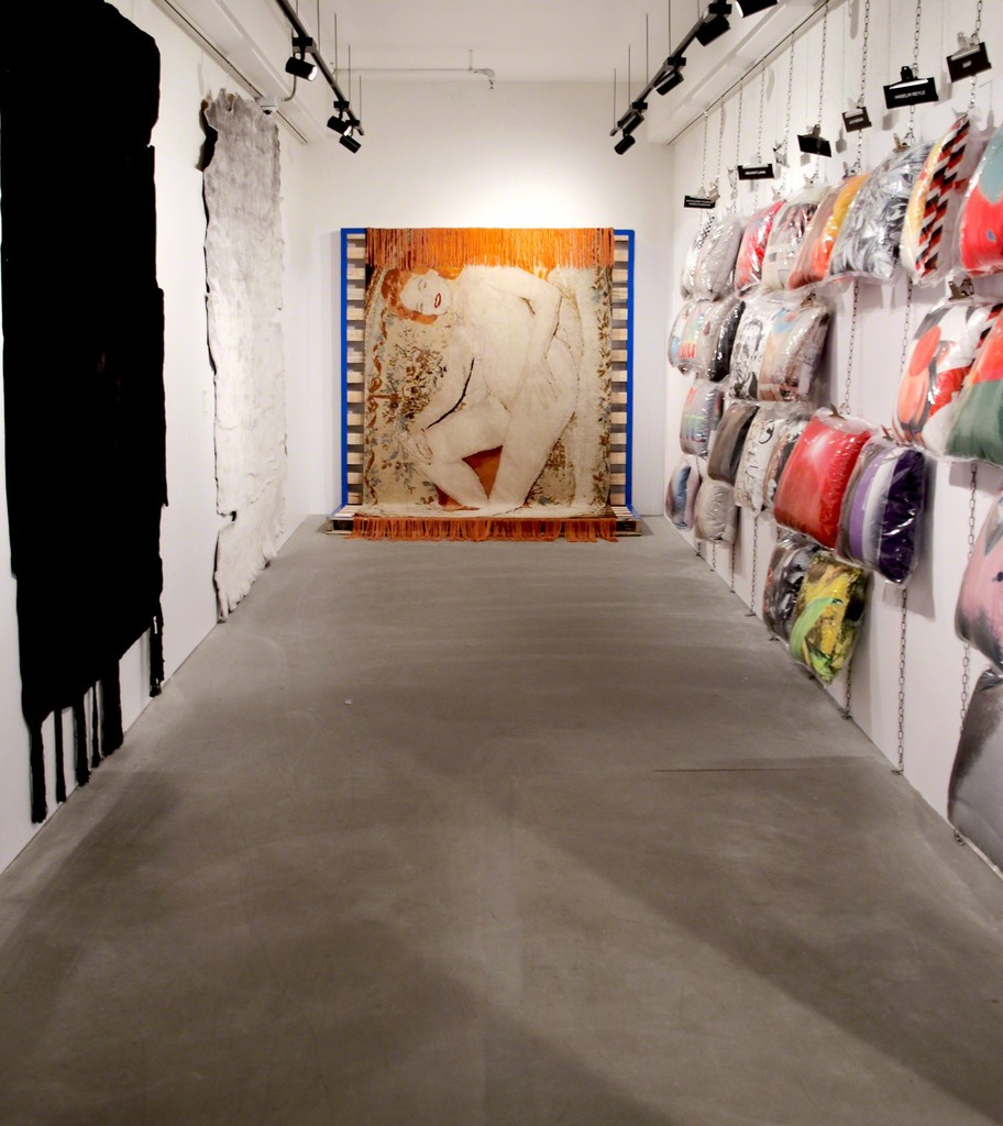 Installation at JOYCE featuring art carpets by CALLE HENZEL and JUERGEN TELLER