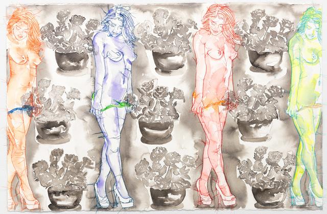 Ghada Amer & Reza Farkhondeh, 'Pot de Fleurs Culote de Soie', 2017, Goodman Gallery