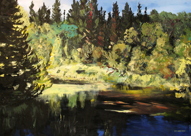 , 'Spruce River,' 2009, Newzones