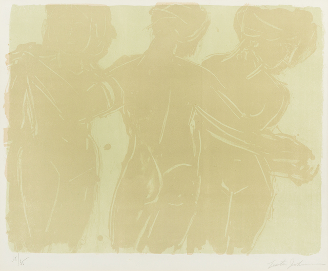 Lester Johnson, 'Three Graces', 1966, Print, Lithograph, Hindman